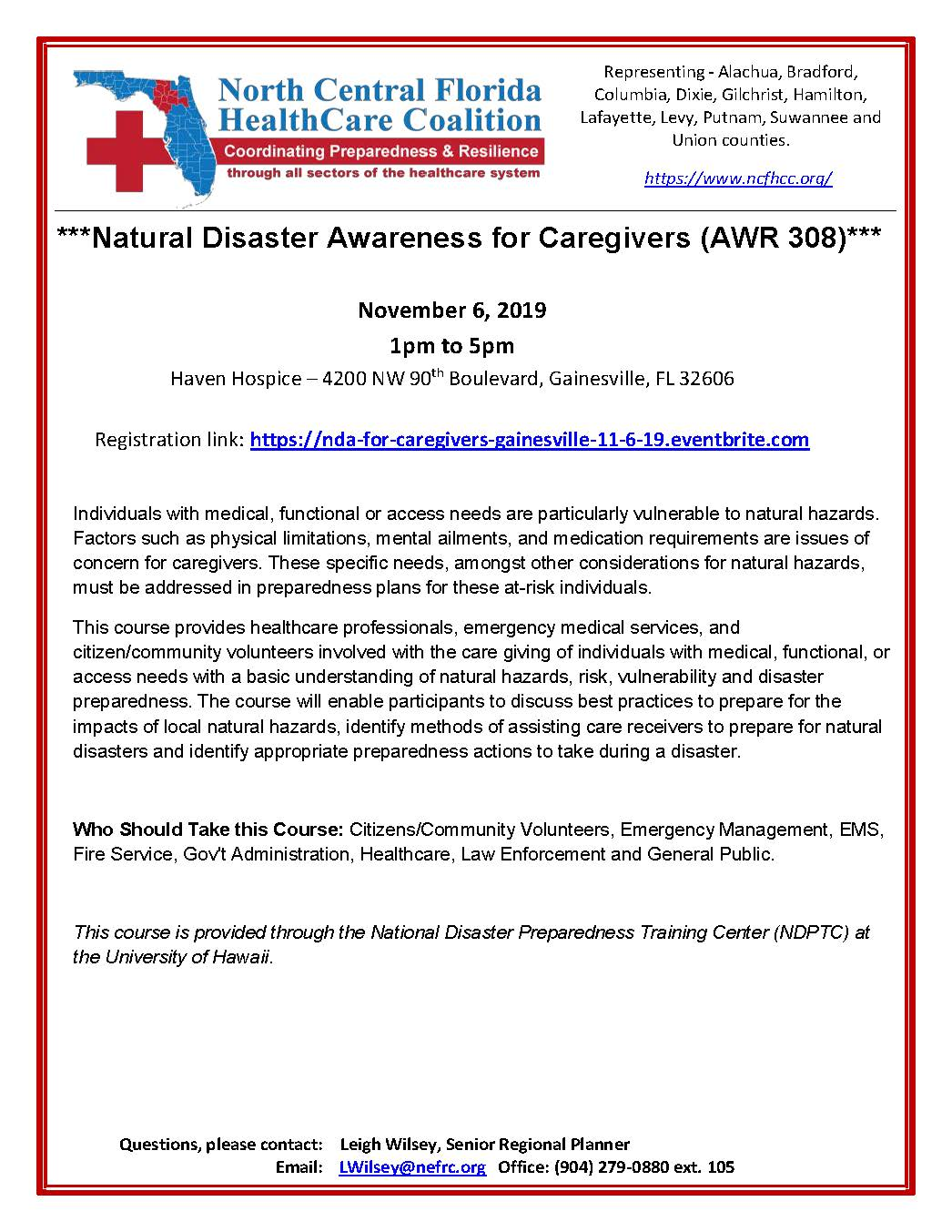 FLYER – Natural Disaster Awareness for Caregivers 11-6-19 (002)